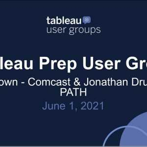 Tableau Prep User Group - 1 juni 2021